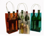 Eco-Friendly PVC Wine Bag Transparent с Button