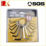 da chave sextavada da chave Hex de 10pieces anel ajustado da mola Allen