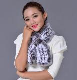 Le donne adattano la sciarpa lunga della pelliccia del coniglio di Rex (YKY4397)