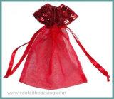 Saco de Drawstring cosmético do pacote de Organza da alta qualidade
