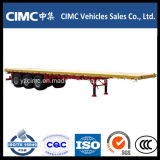 Cimc 2-as 20FT Flatbed Aanhangwagen van de Container