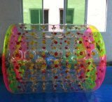 Rouleau gonflable de l'eau de parc de l'eau, rouleau gonflable coloré géant de l'eau de rouleau gonflable de scrutin de fabricant original