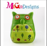Owl Design Lovely Novelty Ceramic Paint Piggy Bank