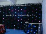 RGB LEDの星ライトは舞台の背景のためのカーテンライトをおおう