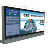 Boîte légère de publicité d'intérieur en verre Tempered d'aéroport de grande taille