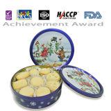 biscuit de beurre bleu de conception de Noël du bidon 250g