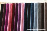 Tissu italien de sofa de velours de pile de polyester décoratif à la maison long