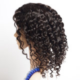 Peruca brasileira da parte dianteira do laço do cabelo do Virgin da densidade de 130%/perucas Curly onda profunda cheia curta do cabelo humano do laço de Glueless para mulheres pretas