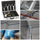 Encanamento de alumínio comprimido do ar azul