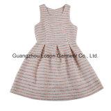 Frauen-Form-Kleid-Damen gesponnenes Schaftmaschine-Kleid