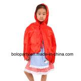 Vestido vermelho da capa de equitação da criança