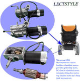 24V 276W motores elétricos da cadeira de rodas da potência deixada & direita de 120rpm com alavanca & controlador do manche