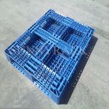 Pálete plástica do HDPE lateral dobro para cremalheiras do armazenamento