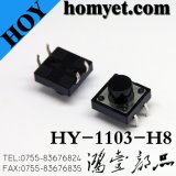 Commutateur de tact DIP haute qualité avec bouton carré 12 * 12 (HY-1103FL)