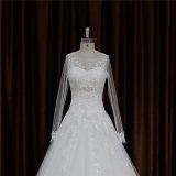 Attraktive Art eine Zeile preiswertes Hochzeits-Kleid