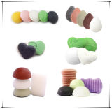 9 ColorsまたはBath Cleaning/Facial Cleaningの熱いSelling Heart Shape Konjac Sponge