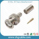 De Schakelaar BNC van uitstekende kwaliteit voor Rg58 Rg59 RG6 Coaxiale Kabel