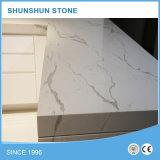 Pedra branca de quartzo de Calacatta para contadores de cozinha