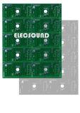 Una sola capa PCB Fr4 Hal plomo 1 oz de cobre verde