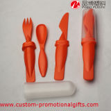 Umweltfreundliches Plastic Camping Cutlery Set mit Spoon Knife Fork