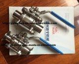 ISO 마운트 플레이트와 위생 볼 밸브