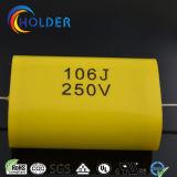 편평한 유형 축 달리기를 위한 400V 630V 1000V 고성능 구리 철사의 Cbb20 106j/250V에 의하여 금속을 입히는 폴리프로필렌 축전기 (TMCF20)