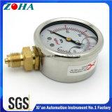 Petróleo inferior diminuto dos calibres de pressão da resistência de choque da conexão - enchido