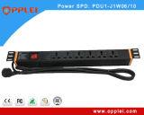 19インチ6portsネットワークキャビネットのサージの保護電力配分装置