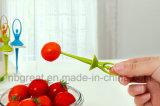 Fork linda y colorida de la fruta en estilo del bailarín