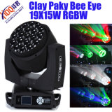 Diodo emissor de luz Beam e Wash Moving Head de Paky 19X15W Bee Eye da argila