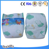 Baby Highquality Cloth Film Velcro Baby Diaperのための極度のCare