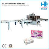 RC300bのフルオートマチックのプラスチックフィルムの美顔術のチィッシュペーパーのパッキング機械