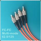 Cordon de connexion de fibre optique de FC-FC 62.5/125