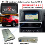 Surface adjacente androïde de navigation de véhicule pour Mazda Cx-5, navigation de contact de mise à niveau, WiFi, BT, Mirrorlink, HD 1080P, carte de Google, jeu Stor