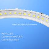 Luz del panel delgada ultrafina redonda de 3000-3500k 9W LED con el transformador