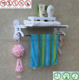 Cremalheira do banheiro com a barra de aço inoxidável de camadas dobro para a toalha