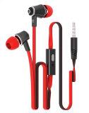 携帯電話のためのMicが付いている耳のEarbudsのフラットケーブルのイヤホーン