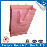 Fantastische rosafarbene Farbe gedruckter Papiergeschenk-Beutel für das Einkaufen