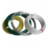 Custo do fio revestido do PVC do verde da fonte de China baixo