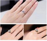 Schrijver uit de klassieke oudheid Zes Klauw 1 Karaat 6mm de Ringen van de Diamanten bruiloft van CZ voor Merk van Anel Bijoux van de Verlovingsringen van de Juwelen van Vrouwen het Zilver Geplateerde Vrouwelijke