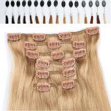 """22 """" capelli umani peruviani della clip dei capelli del Virgin spesso di estensione #30"""