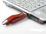 USB3.0 가죽 USB 섬광 드라이브 지원에 의하여 돋을새김되는 로고