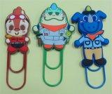 Alta qualità Plastic Promotional 3D Silicone Cartoon Book Clip (BMS-10021)