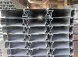 O edifício novo pressionou placas de aço perfiladas galvanizadas do Decking do assoalho