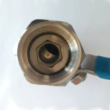 1 robinet à tournant sphérique d'acier inoxydable de PC avec le traitement