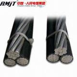 Câble aérien de paquet d'ABC du conducteur 4 du câble d'alimentation en aluminium 35mm de faisceau