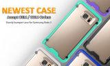 Caisse d'espace libre de double couche de série de coléoptère de licorne pour le bord de Samsung S7