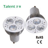 3X1w GU10 Aluminum House High Power LED Lamp