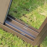Puder-überzogenes schiebendes Aluminiumfenster mit Verlegenheit, Verriegelungs-Verschluss, schiebendes Aluminiumfenster Kz009
