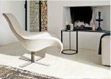 ステンレス鋼フレーム(LC013)が付いている革余暇の椅子